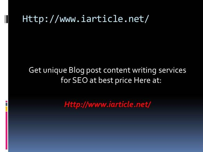 Blog content writing services