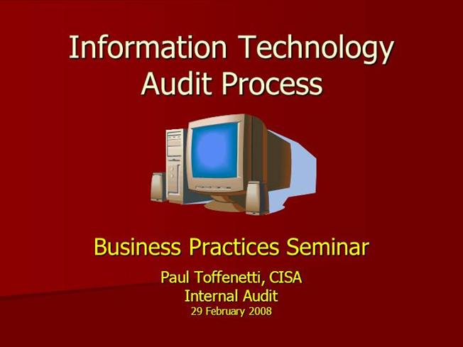 cisa questionnaire the is audit process information technology essay Isaca (information systems audit and control association) cisa (certified information systems auditor) is one of the most demanding certification in the information technology (it) field the cisa focuses on information system audit control, assurance, and security professionals.