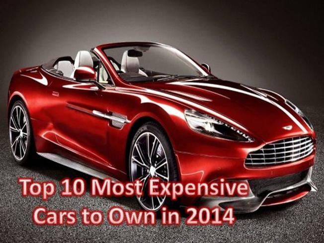 top 10 most expensive cars to own in 2014 authorstream. Black Bedroom Furniture Sets. Home Design Ideas