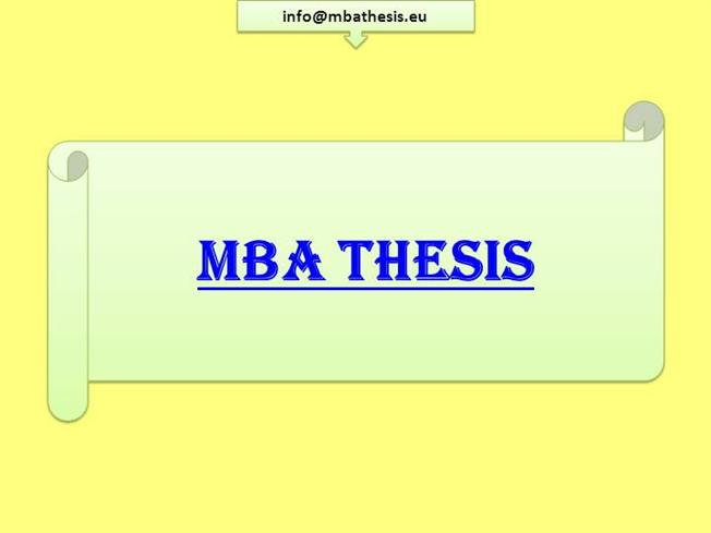 Mba thesis writers