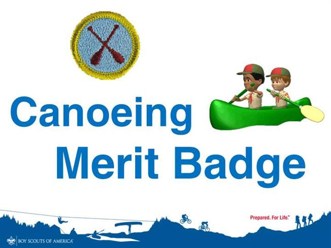 Canoeing merit badge authorstream for Boy scout powerpoint template