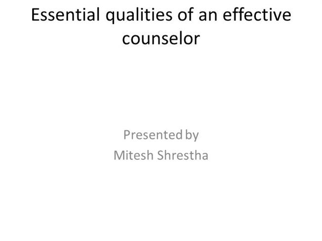 qualities of an effective counselor Of direction effective counseling programs are important to the school climate  and a crucial element in improving student achievement school counselors, like .
