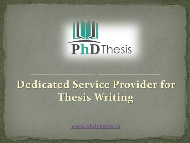 Phd thesis database presentation in india