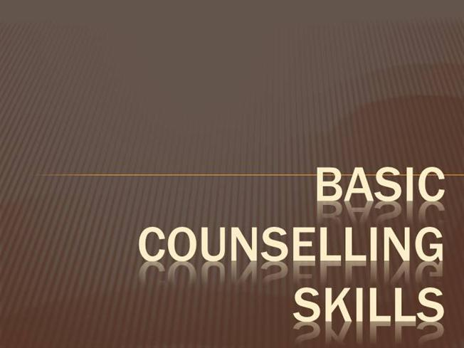 basic counselling skills Basic counseling skills goals and objectives 1 counselor development  • micro-counseling is an analysis of counseling skills that looks carefully and in great detail at the elements of the counseling relationship  confront basic mistakes.