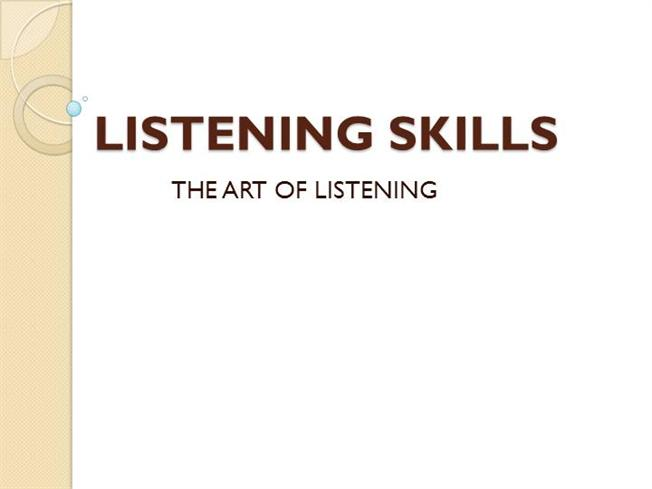 listening skill is a neglected art If the activity does not improve listening skills, what are the causes and how could  these  considered secondary skills, are often neglected, although they provide   asako takaesu, english for liberal arts, international christian university.