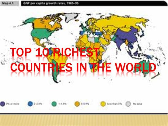 top 10 richest countries in the world authorstream top 10 richest countries in the world authorstream