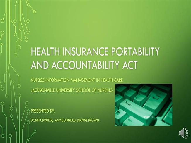 the health insurance portability and accountability The federal health insurance portability and accountability act of 1996, known as hipaa, was passed to establish a national framework for security standards and protection of confidentiality regarding health care data and information all health care plans (eg, hmos, insurers), health care clearinghouses (eg, billing services, re-pricing.