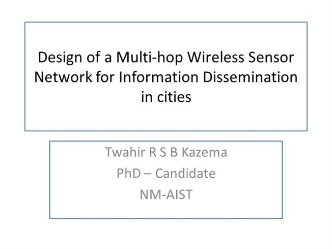 Phd research proposal in wireless sensor networks