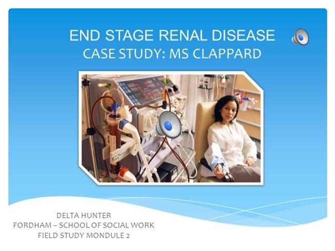 end stage renal failure case study