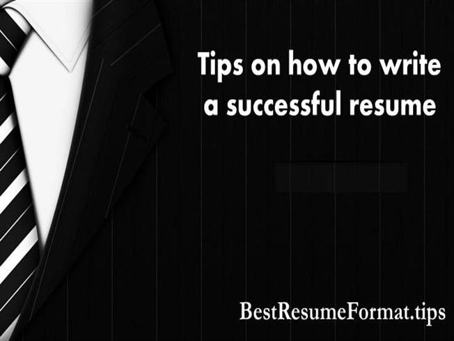 tips on how to write a successful resume authorstream