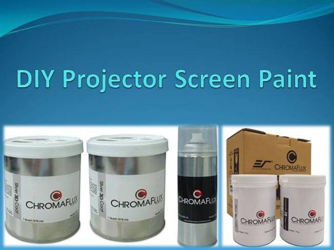 Diy projector screen paint authorstream for Paint projector screen