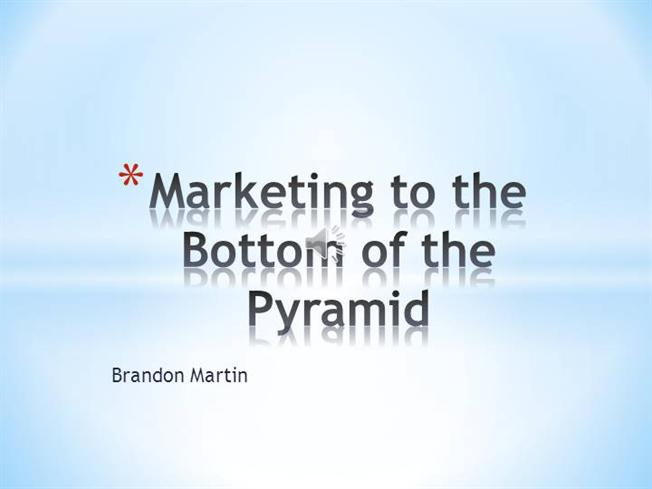 marketing to the bottom But the seasoned marketer will be cautious, knowing that advertising is not the  end all and be all of sales, nor can it claim a monopoly of.