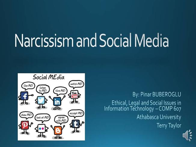 narcissistic phenomenon and social networking