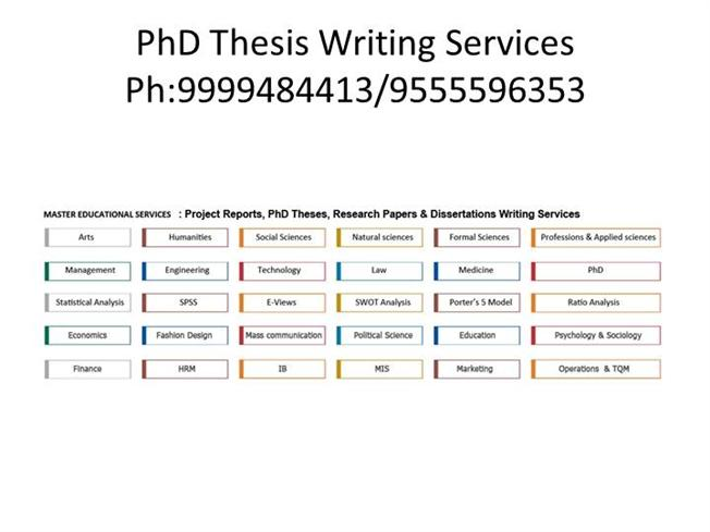 Best PhD Thesis Writing Services in India