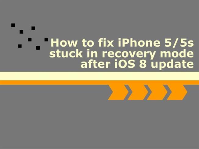 iphone 5 recovery mode fix