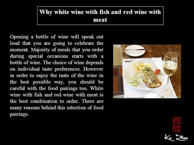 Why white wine with fish and red wine with meat authorstream for White wine with fish