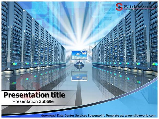 download data center services powerpoint template