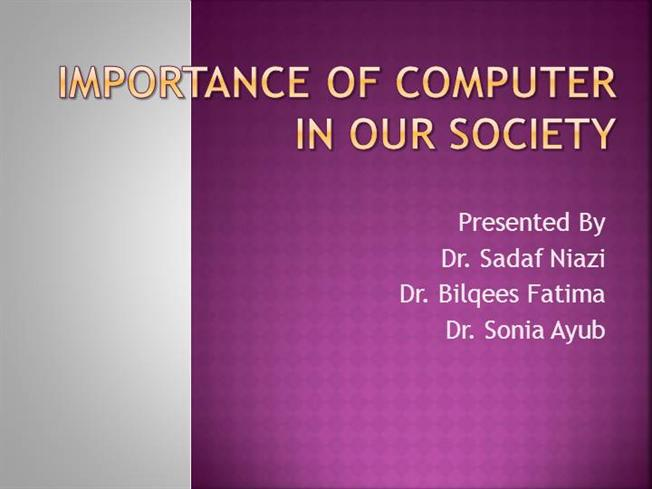 the importance of computer in modern society The role of computers in modern society essays and research papers computers a computerized world computers play an important role in this modern society.