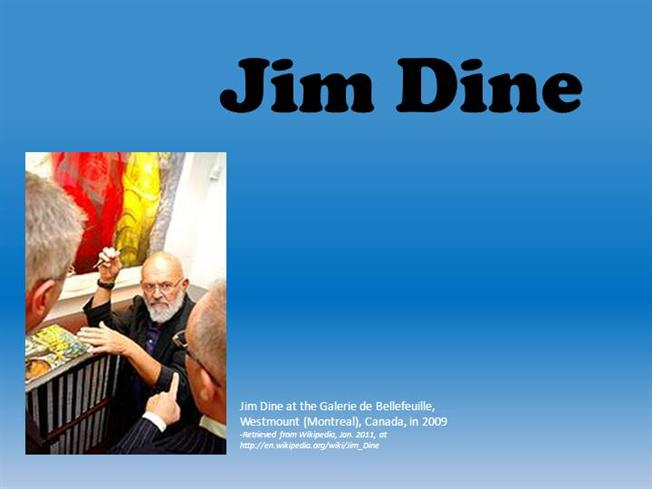 Jim Dine Oil And Watercolors AuthorSTREAM