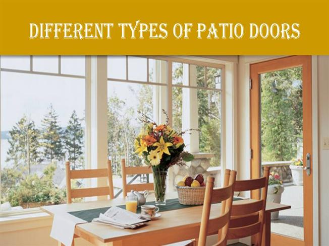 Different types of patio doors authorstream for Different types of patio doors