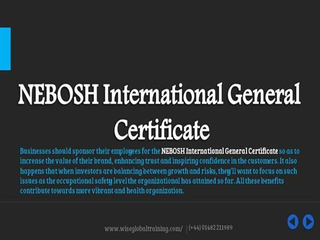 Write About Something Thats Important Nebosh General