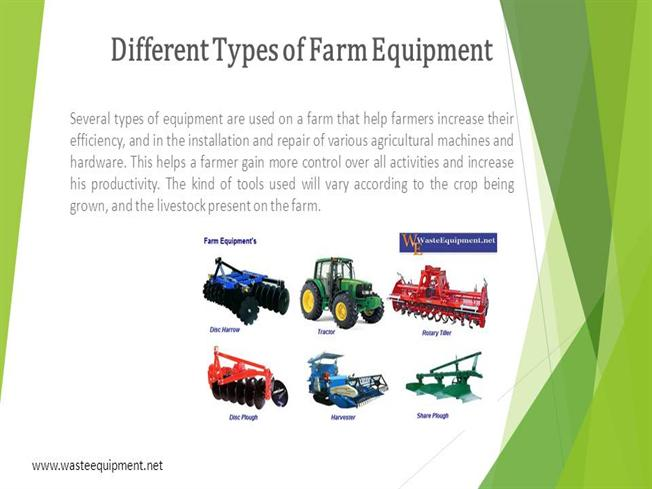 Different types of farm equipment authorstream for Different tools and equipment in horticulture