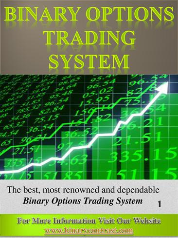 Binary option trading signals review