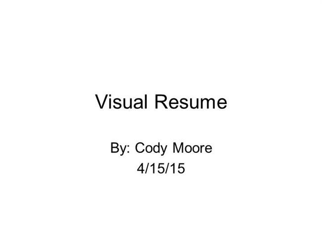 visual resume authorstream