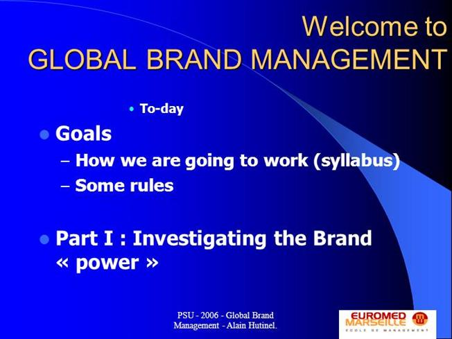 global brand management Identity is important for any product in today's competitive marketplace brand managers are concerned with creating a lasting impression among consumers and improving product sales and market share.