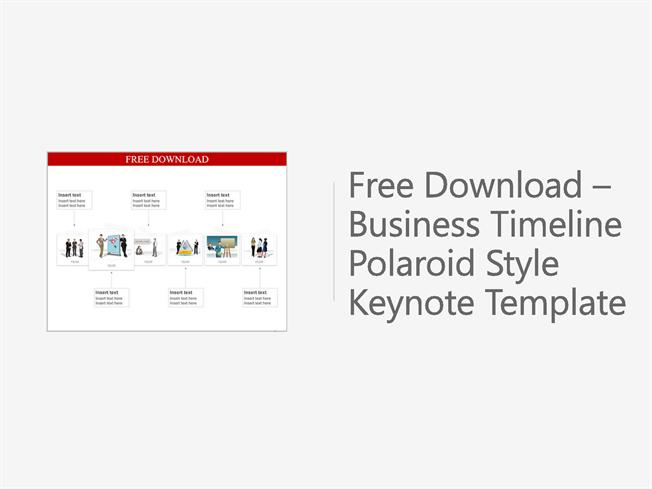 free downloadable business timeline polaroid style keynote templat authorstream. Black Bedroom Furniture Sets. Home Design Ideas