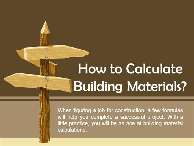 How to calculate building materials authorstream for Material cost to build a house calculator