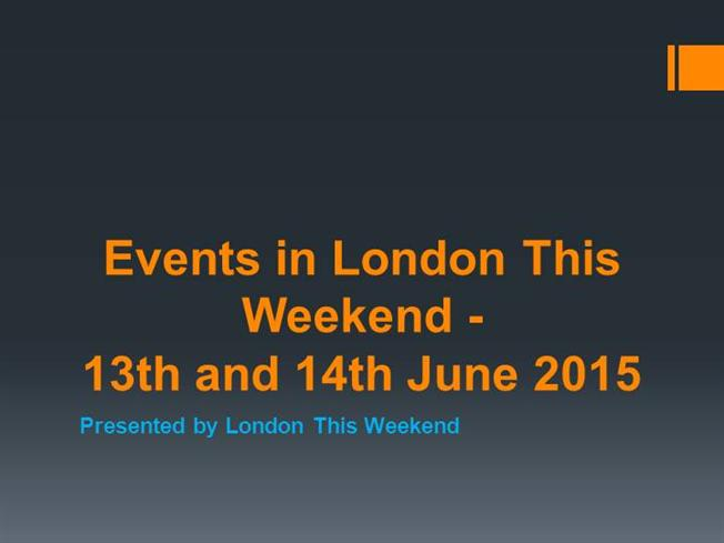 Dating events london this weekend