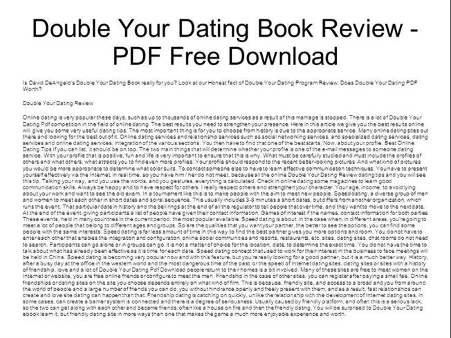 Double your dating david deangelo free