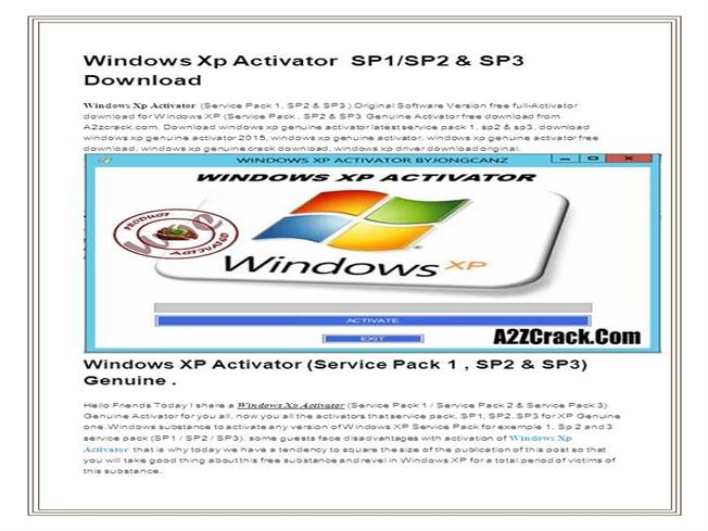 window xp activator software