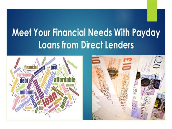 Meet Your Financial Needs With Payday Loans from Direct ...