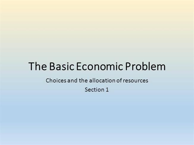 basic economic problem essays Basic economic problem essays i like volume more than length but i would go for either at this point :) any suggestions are welcome student error essay.