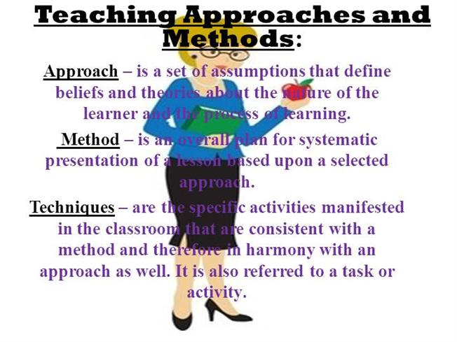 approaches to learning how different approaches The approaches to learning domain, unlike the other essential domains,  presents a different way of thinking about learning it doesn't focus on.