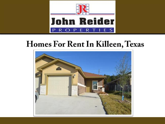 Homes for rent in killeen texas authorstream for Home builders in killeen texas