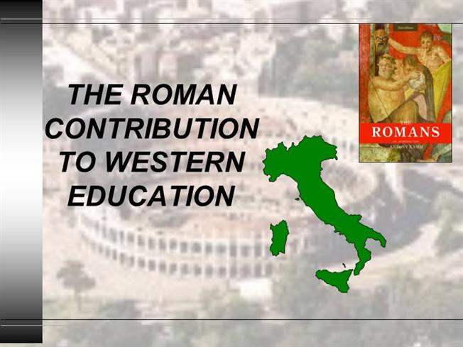 roman education contribution In addition, the pure mathematical subjects treated by pythagoras and others were studied as part of a standard roman education perhaps one of the most recognisable features of roman culture, and still widely used in the modern world, is the roman system of numerals.