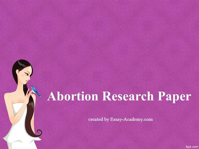 Term paper about abortion