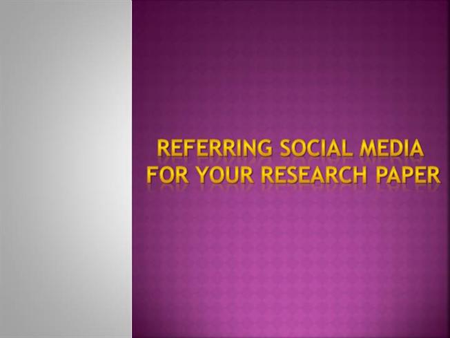 research paper on social media Free research papers on social media and marketing access to the top-cited and most read research articles from elsevier's marketing journals.