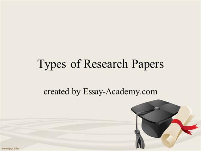 types papers research