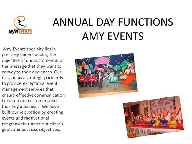 Weddings event management agencies amy events 91 for Annual function decoration