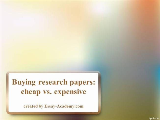 Purchasing a research paper