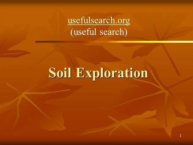 Soil exploration usefulsearch org useful search for Soil exploration