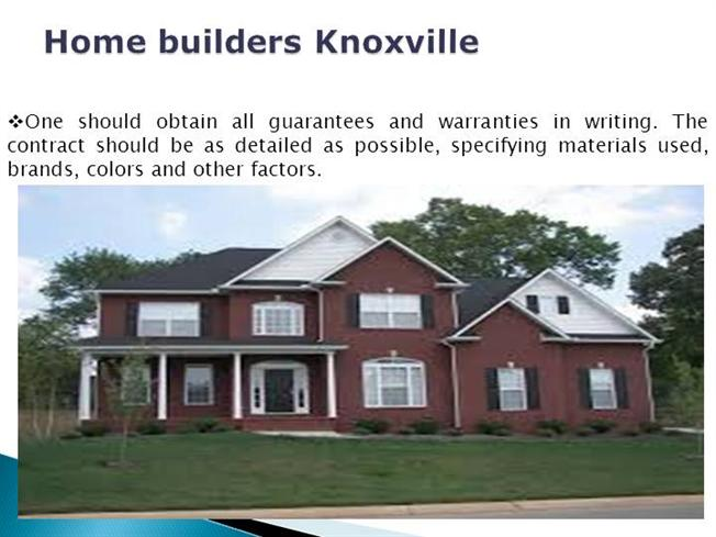 Home builders knoxville authorstream Home builders in knoxville tennessee
