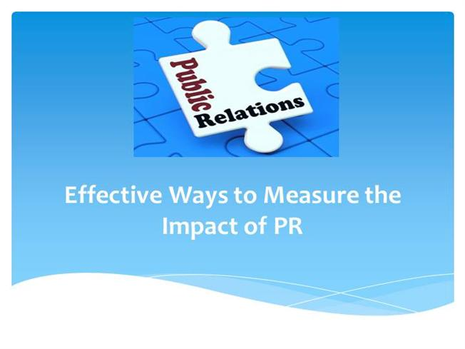 measuring public relations effectiveness for the