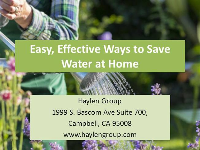 Easy effective ways to save water at home authorstream for Ways to save water at home