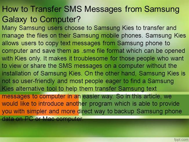 how to download messages from samsung s to computer
