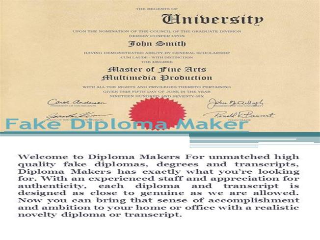 Fake diploma maker authorstream for Fake certificates maker